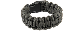 "CA-5034 8"" PARACORD BRACELET W/ LARGE BUCKLE (GRAY)"