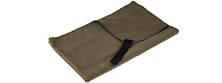 CA-5100 MICRO FIBER ALL-PURPOSE FAST DRY TRAVEL TOWEL (OD GREEN)