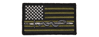 CA-5150 SWORD & SNAKE EMBROIDERED PATCH (OD)