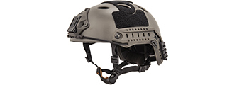 Lancer Tactical PJ Airsoft Helmet w/ Side Rails [LG/XL] (FOLIAGE GRAY)