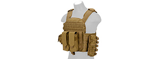 CA-8257LT LANCER TACTICAL AK MOLLE PLATE CARRIER - TAN