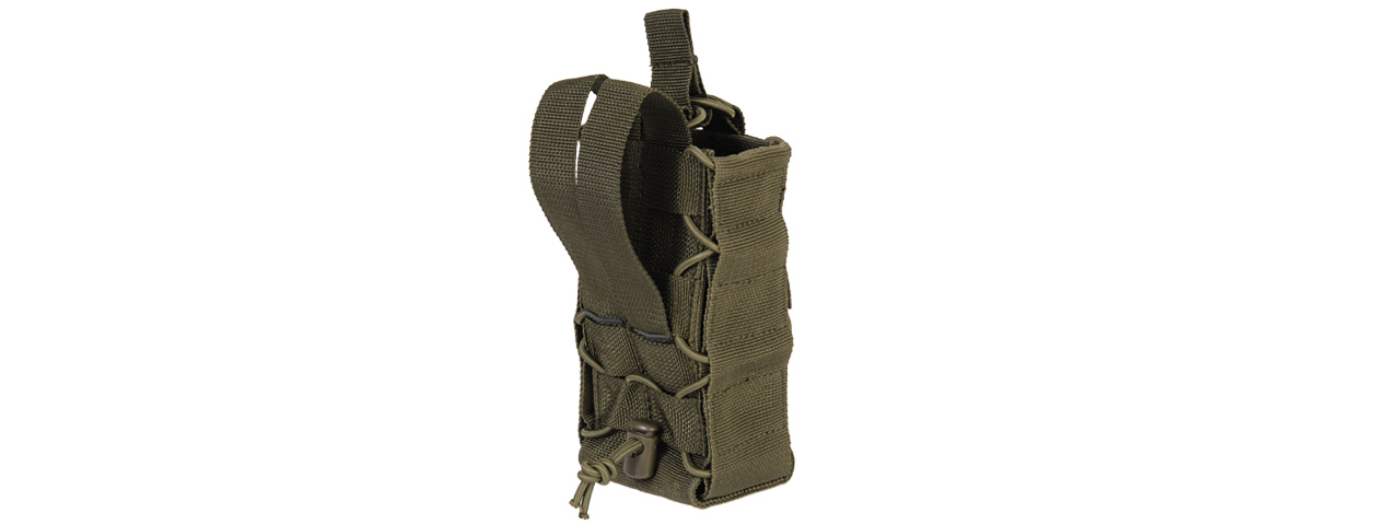 CA-881GN NYLON TACO POUCH FOR RADIO/CANTEEN (OD)