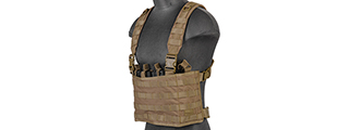 CA-882T LIGHTWEIGHT CHEST RIG W/ CONCEALED MAGAZINE POUCH (TAN)