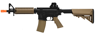 CB-180834 CYMA COLT M4A1 CQB-R AEG MILITARY SERVICE RIFLE (BLACK/TAN)