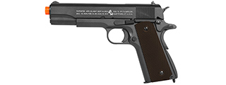 CB-18512 KWC COLT M1911 WWII FULL METAL CO2 BLOWBACK PISTOL (BK)