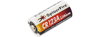 CR123A-SPIDERFIRE SPIDERFIRE CR123A 3V 1300mAh LITHIUM NON-RECHARGEABLE BATTERY