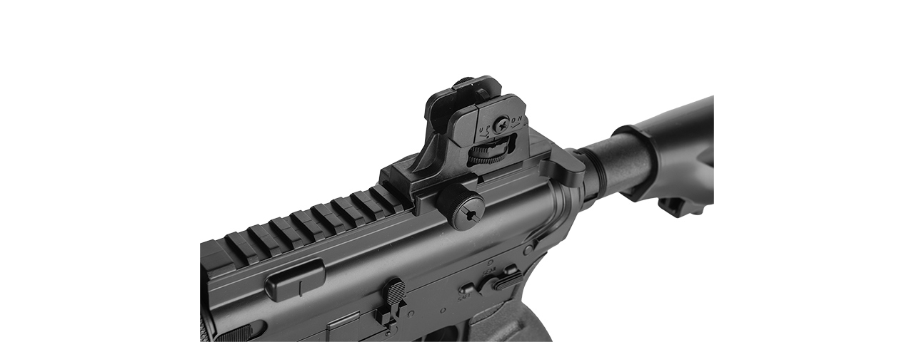 D3813 WELLS HYBRID GEARBOX M4 CQB AEG RIFLE (BK) - Click Image to Close