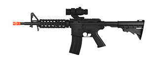 WELL D99 LPEG FULL-AUTO M4 RIS AEG AIRSOFT RIFLE W/ MOCK SCOPE (BLACK)