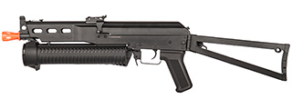 GOLDEN EAGLE AIRSOFT PP-19 BIZON SMG AEG W SIDE FOLDING STOCK - BLACK