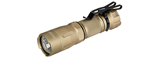 OPSMEN TACTICAL 800-LUMEN STROBE FLASHLIGHT - TAN