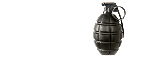 A&K AIRSOFT GAS PROPELLED PINEAPPLE HAND GRENADE - BLACK