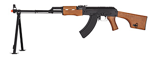 JG AIRSOFT AK SVD AEG W/ INTERGRATED BIPOD DMR RUSSIAN SNIPER - BLACK