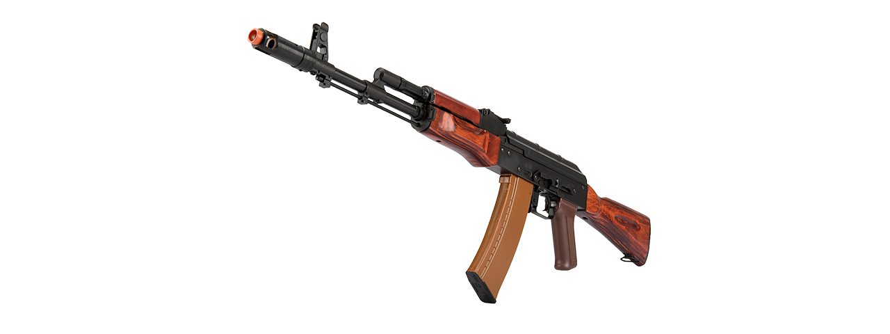 LCT-LCK74-AEG FULL STEEL AK74 AIRSOFT AEG ASSAULT RIFLE (BLACK/WOOD)