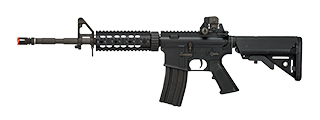 LCT-LR4-RIS7 LCT AIRSOFT FULL STEEL M4 EBB AEG RIFLE W/ QUAD RAIL - BLACK