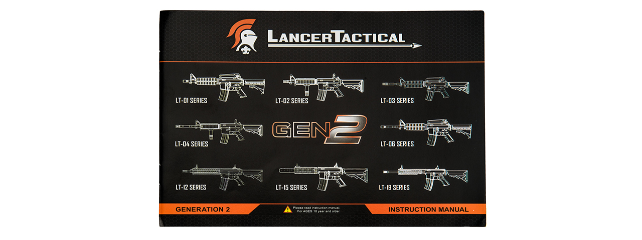 LT-03B-G2 CRANE STOCK M4 AEG METAL GEAR (COLOR: BLACK)