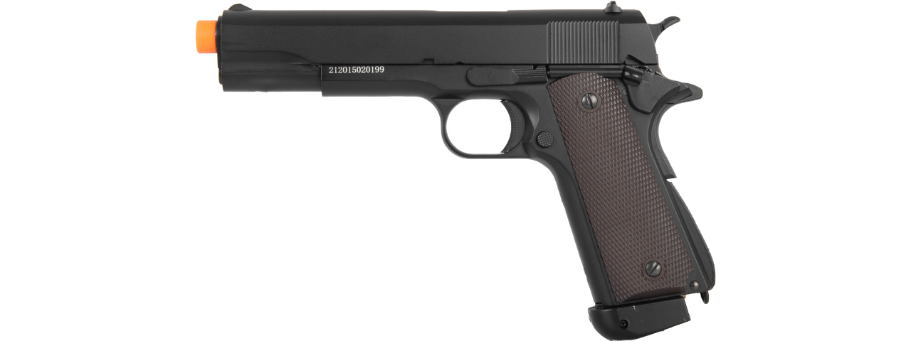 LT-13E CO2 GAS POWERED 1911 AIRSFOT PISTOL w/BLOWBACK (BLACK)