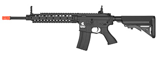 "LT-26B 10"" FREE FLOAT RAIL SR-16 AEG RIFLE (BK)"