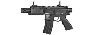 LT-708 LANCER TACTICAL FULL METAL 708 M4 AEG RIFLE (BK)