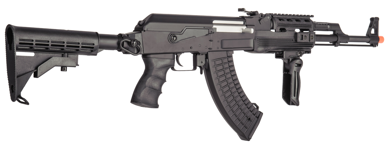 LT-728C-NB TACTICAL AK AEG RIFLE w/ RETRACTABLE STOCK (BK), NO BATTERY/CHARGER
