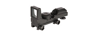 UK ARMS AIRSOFT TACTICAL DUMMY RED DOT SIGHT - BLACK