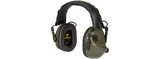 M31-FG ELECTRONIC HEARING HEADPHONES W/ AUX INPUT (FOLIAGE GREEN)