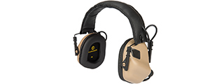 M31-TN ELECTRONIC HEARING HEADPHONES W/ AUX INPUT (TAN)