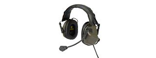 M32-FG ELECTRONIC TACTICAL EARMUFFS W/ AUX INPUT (FOLIAGE GREEN)