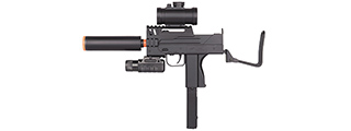 M42P DOUBLE EAGLE MINI UZI (BK) w/ SUPPRESSOR. LASER, RED-DOT SIGHT, FLASHLIGHT