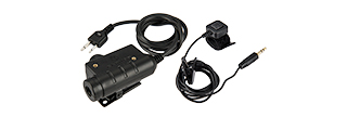 M52-IC EARMOR TACTICAL MILITARY ADAPTER PTT FOR ICOM VERSION (BLACK)