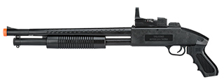 UKARMS M590 Spring Shotgun w/ Flashlight, Laser, Scope w/ Blue and Green Light