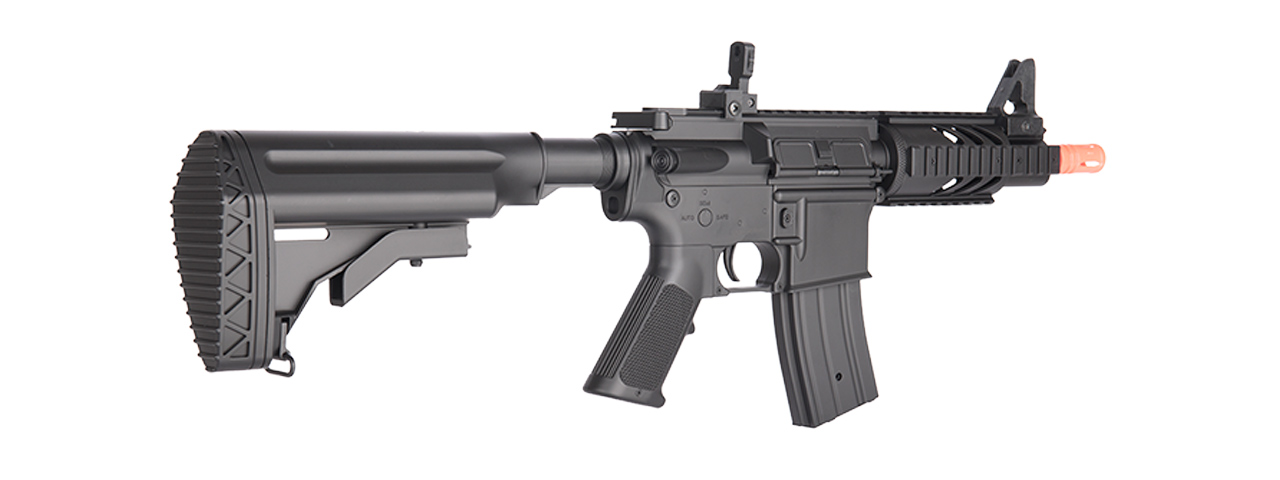 M805A2 DOUBLE EAGLE M4 AEG RIFLE (BK) w/ RETRACTABLE STOCK, RED-DOT SIGHT, FLASHLIGHT