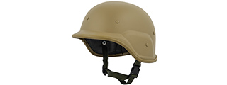 PASGT Airsoft Helmet w/ Adjustable Chin Strap (TAN)