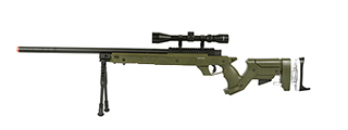WELL SR22 BOLT ACTION TYPE 22 SNIPER RIFLE W/ SCOPE & BIPOD (OD)