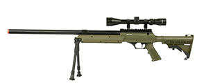 WELLFIRE APS SR-2 MODULAR BOLT ACTION SNIPER RIFLE W/ SCOPE - OD GREEN