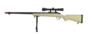 WELL VSR-10 BOLT ACTION AIRSOFT SNIPER RIFLE W/ SCOPE AND BIPOD (TAN)