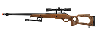 MB10WAB WELL MB10D SNIPER RIFLE W/ SCOPE AND BIPOD (FAUX WOOD)