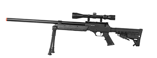 WELL SPEC-OPS MB13A APS SR-2 BOLT ACTION SNIPER RIFLE W/ SCOPE AND BIPOD (BK)