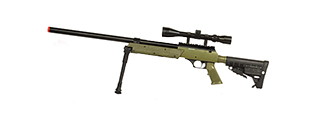 WELL SPEC-OPS MB13A APS SR-2 BOLT ACTION SNIPER RIFLE W/ SCOPE AND BIPOD (OD)