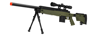 WELL MB4406D SNIPER RIFLE W/ FOLDING STOCK BIPOD & SCOPE - OD