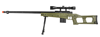 MB4409GAB WELL MB4409 MK96 COVERT SNIPER RIFLE W/BIPOD & SCOPE (OD)