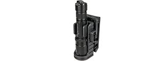 OPSMEN ADJUSTABLE TACTICAL FLASHLIGHT SPEED HOLSTER - BLACK