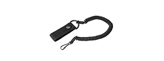 OA003 EARMOR TACTICAL LANYARD W/ SNAP BUTTON BELT CONNECTOR (BLACK)