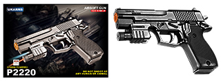P2220 SPRING PISTOL & FLASHLIGHT (BK)