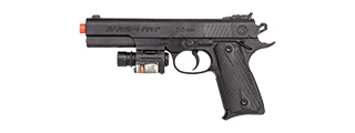 P2400 SPRING PISTOL IN POLY BAG w/ LASER (BK)