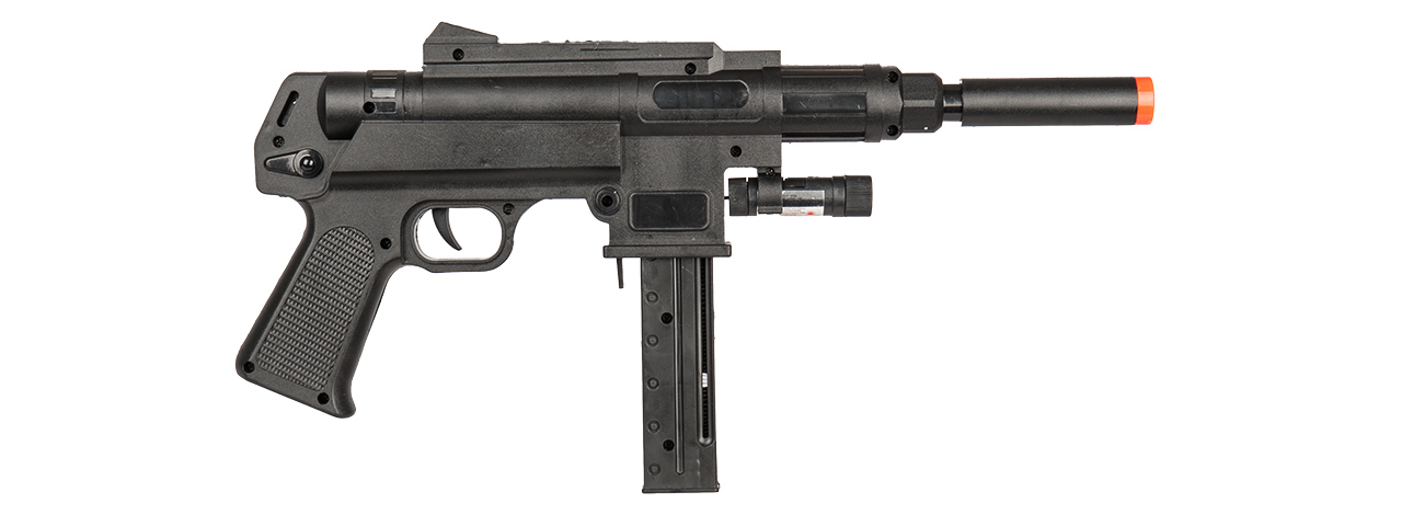 P2626 SPRING RIFLE w/ LASER & FLASHLIGHT (BK)