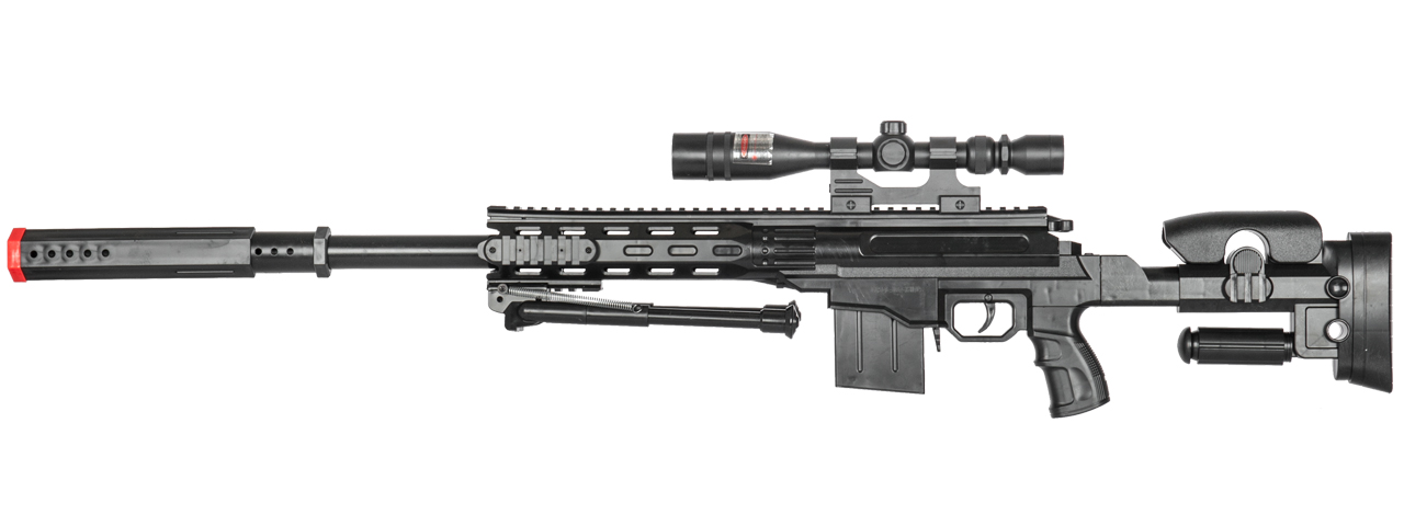 P2668 SPRING SNIPER w/ SCOPE & BIPOD (BLACK)