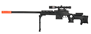 P2777 SEMI-AUTO SPRING AIRSOFT SNIPER RIFLE W/ MOCK SCOPE (BLACK)