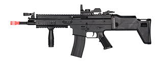 P8902 MK16 SPRING RIFLE W/ RED DOT SIGHT & FOREGRIP (BLACK)