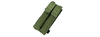 T0072-G MOLLE P90 DOUBLE MAGAZINE POUCH (OD GREEN)