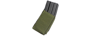 T0319-G VELCRO SURFACE 5.56 MAG POUCH (OD GREEN)